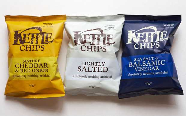 A list of vegan snacks for the office can't be complete without Kettle Chips!