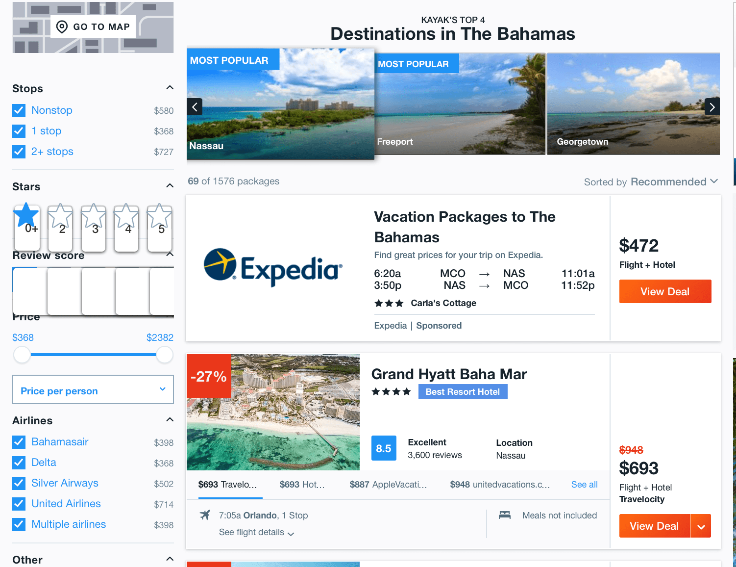 Kayak travel booking website that can help office management staff