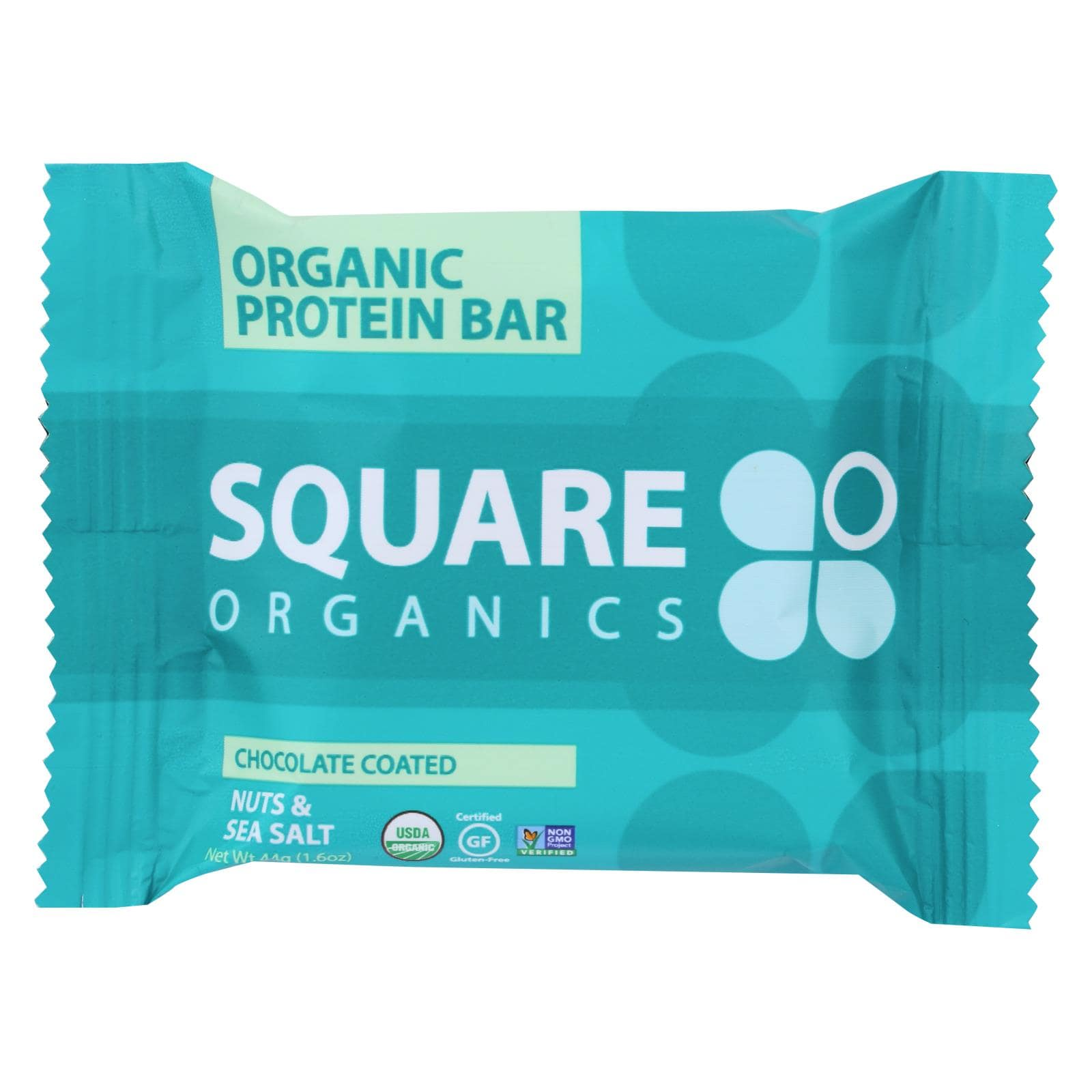 Square Organics Protein Bar - Chocolate Coated Nuts & Sea Salt