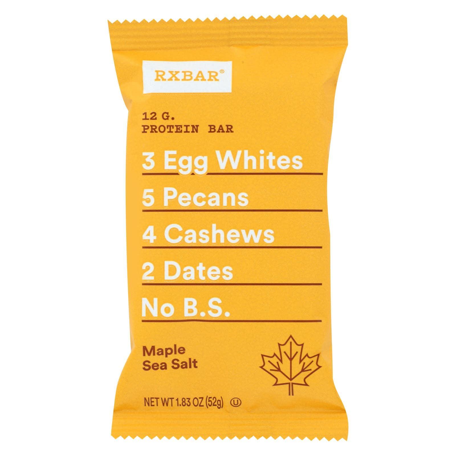 Rx Bar Protein Bar - Maple Sea Salt