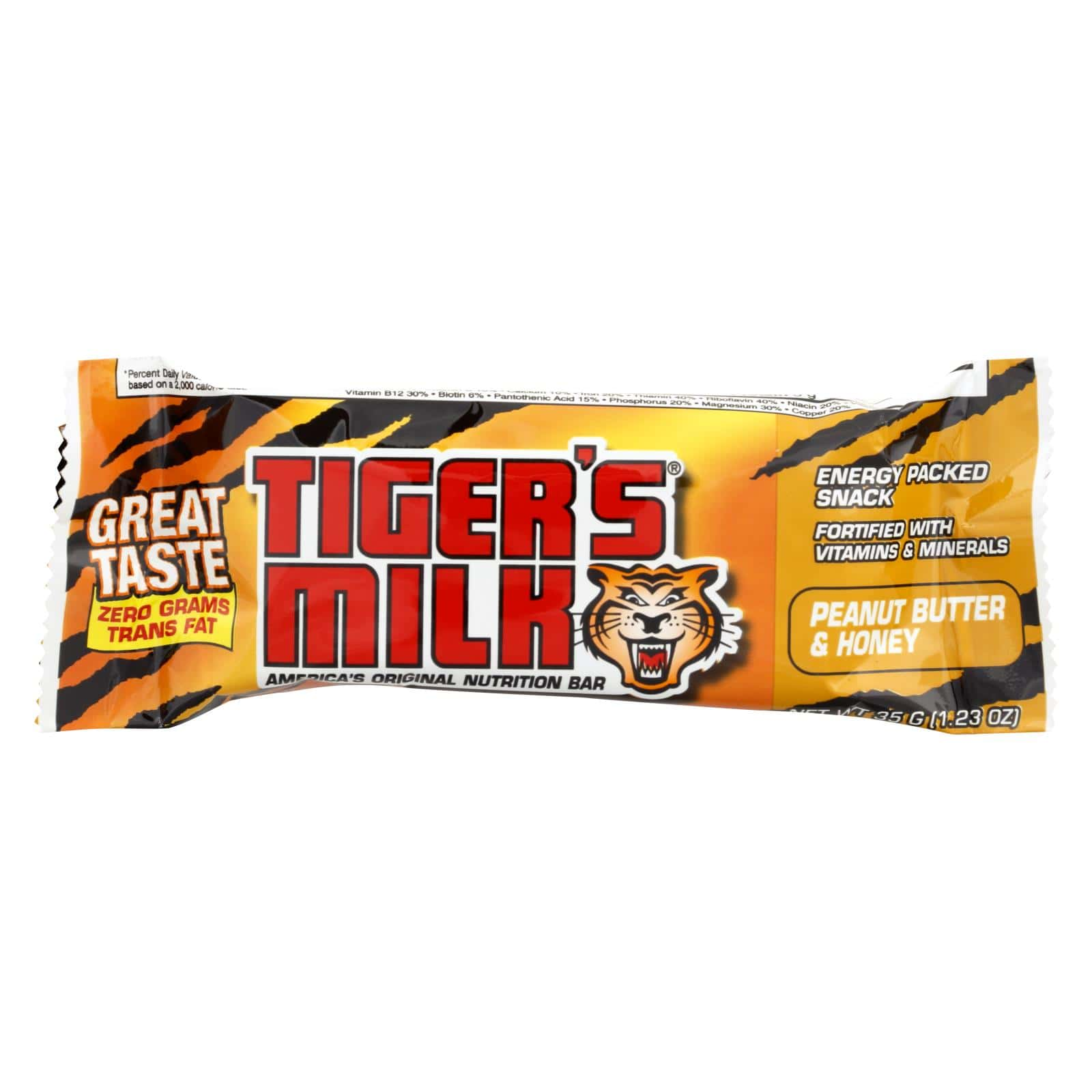 Tiger's Milk Bar - Peanut Butter & Honey