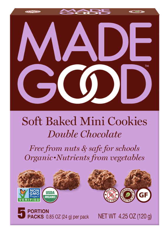 Box of Made Good soft baked cookies.