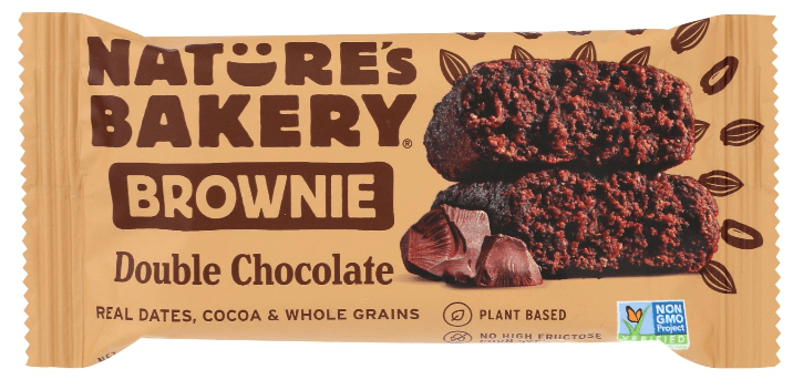 Nature's Bakery double chocolate brownie bar.