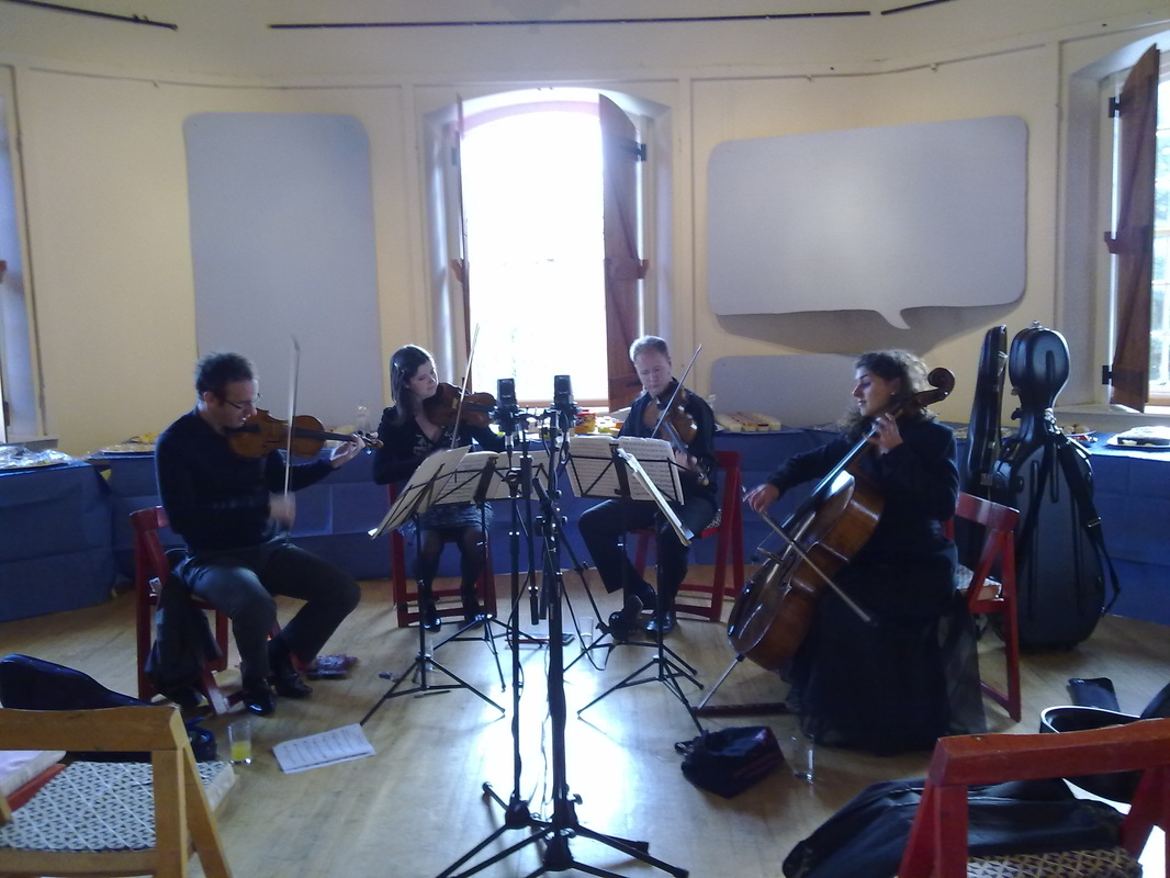 Recitative and Aria, Carducci Quartet in rehearsal, Prema Arts Centre Uley, January 2013