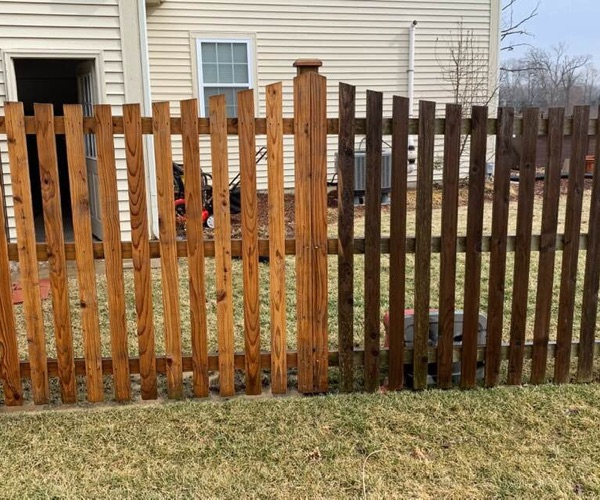 fence washing before and after