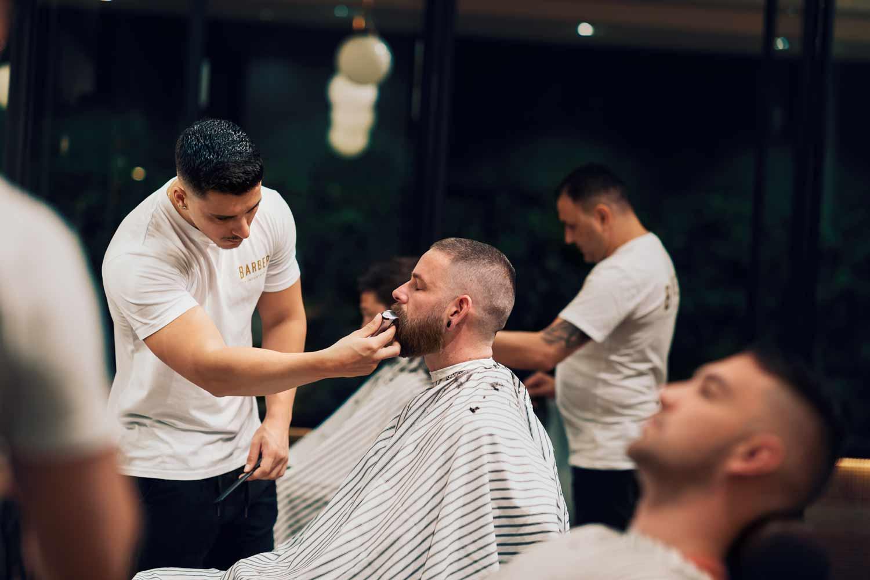 Barbers Cutting Hair at Wollongong Barbershop
