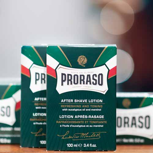Proraso Shaving Products in the Barbershop