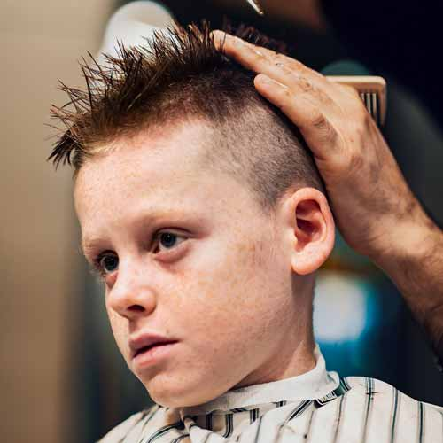 Customer in Barbershop in Kotara NSW