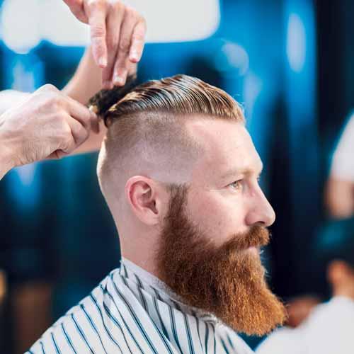 Customer in barbershop in Charlestown NSW