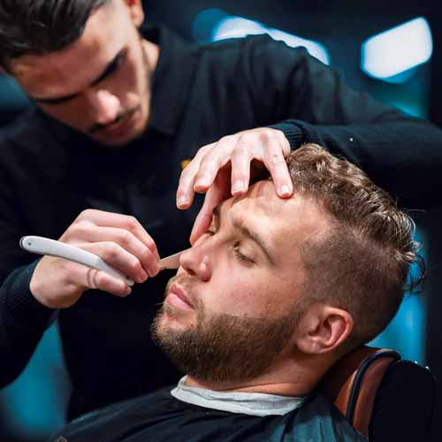 Customer in Barbershop in Preston NSW