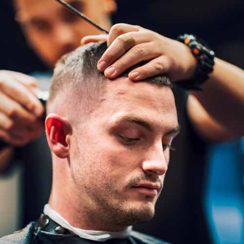 Customer In Barbershop In Richmond NSW