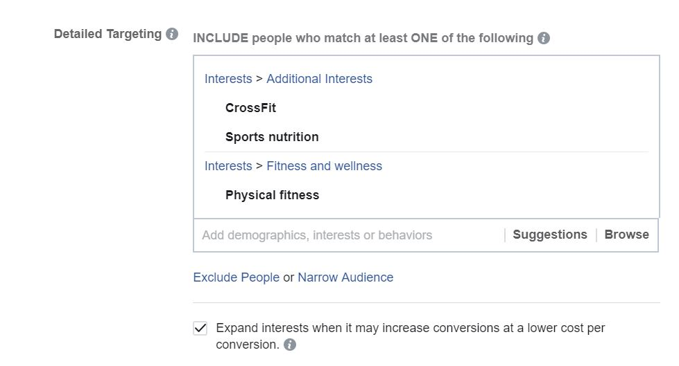 facebook ad interests