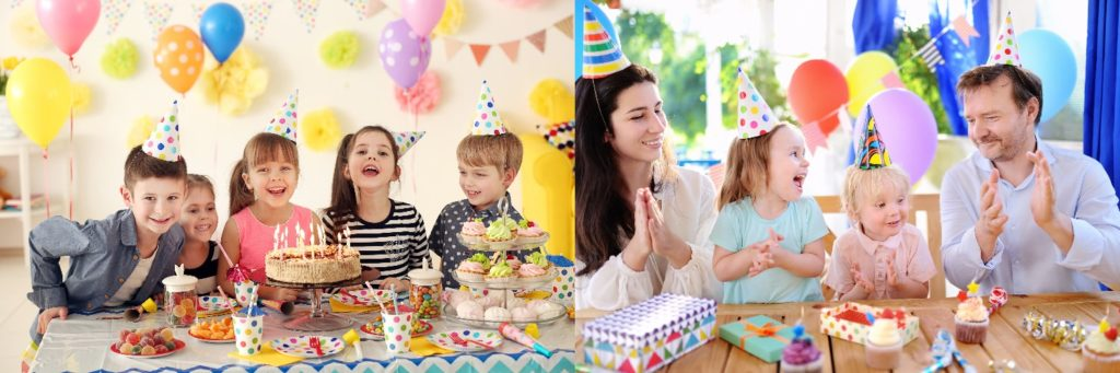 Take family photos at your child's birthday party