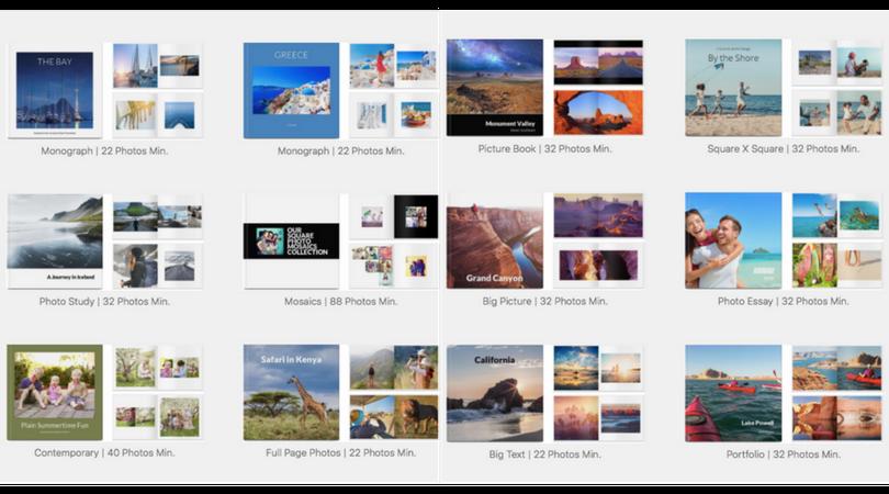 Mimeo Photos Photobook Themes
