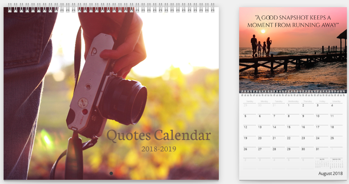 Mimeo Photos Inspirational Quotes Calendar