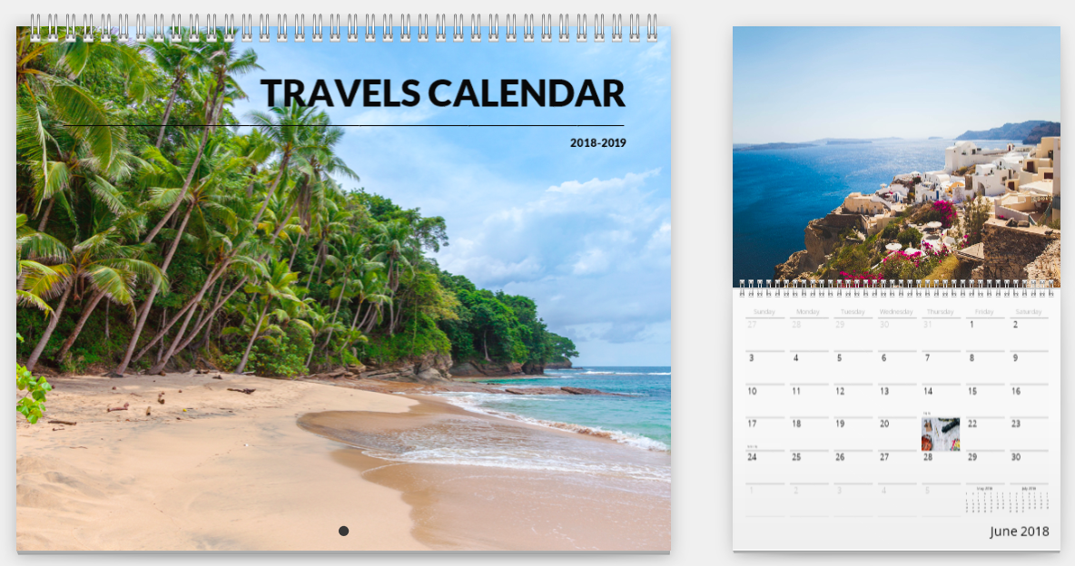 Mimeo Photos travel calendar