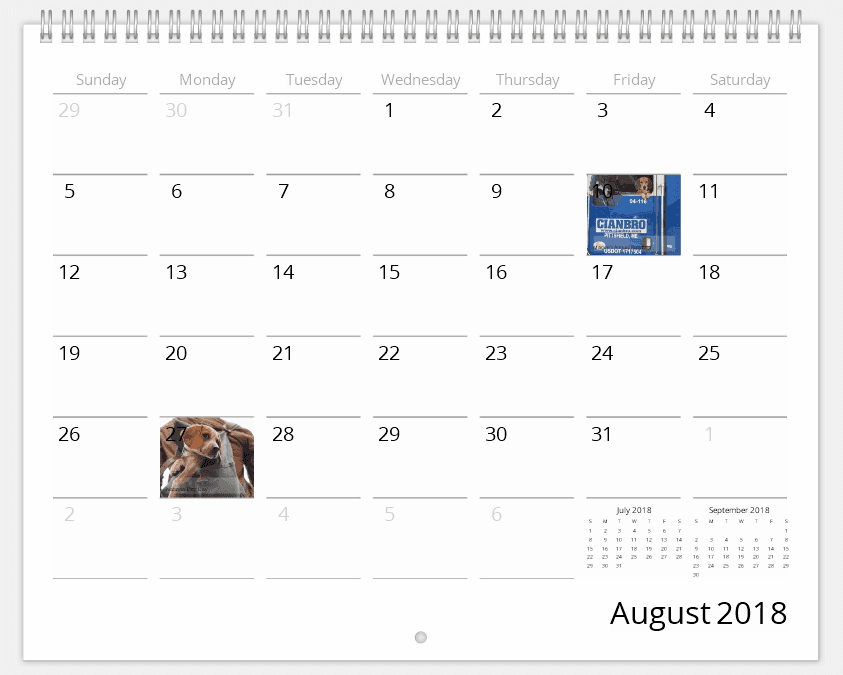 Personalize Dates Meaningful to You in Your Pet Calendar