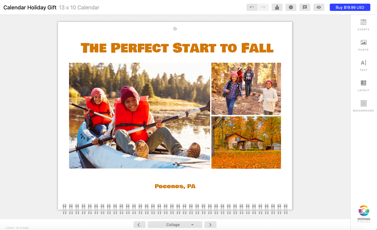 Capture the best seasonal moments in a custom calendar
