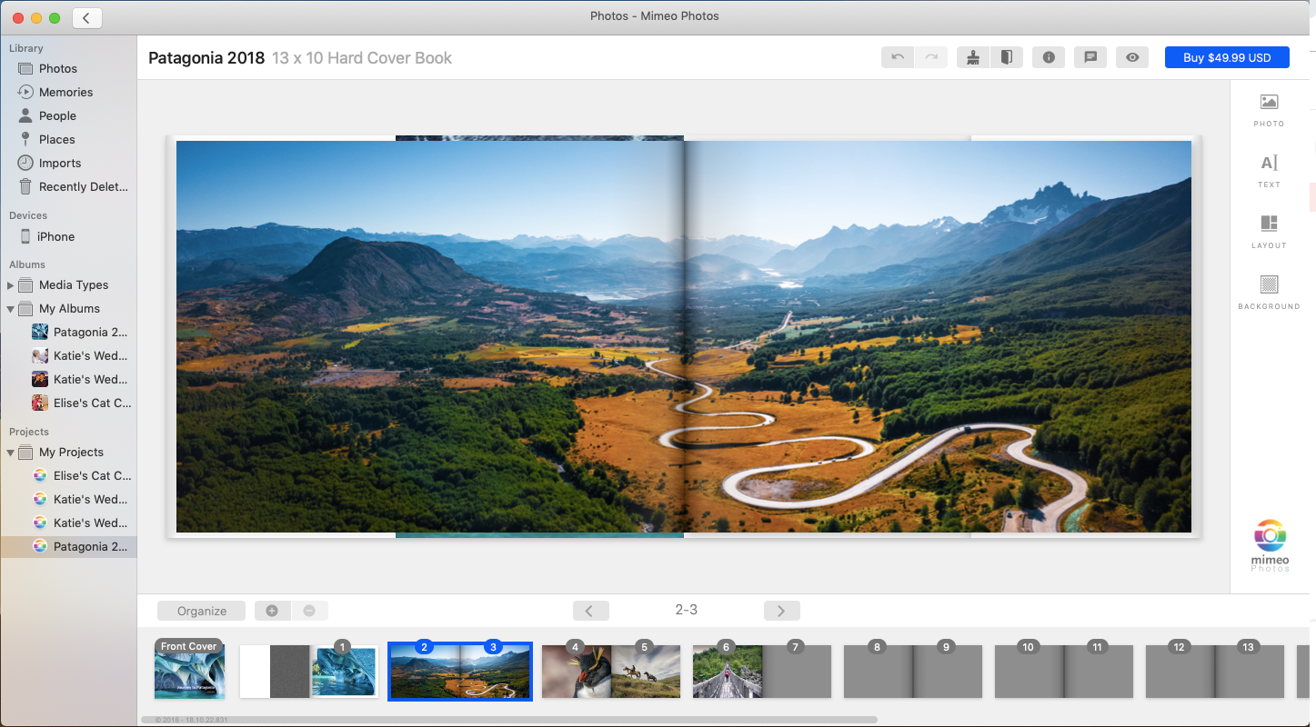 Use full page spreads for special landscape shots