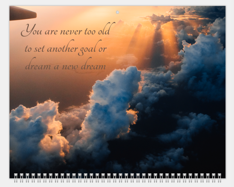 Mimeo Photos Quote calendar