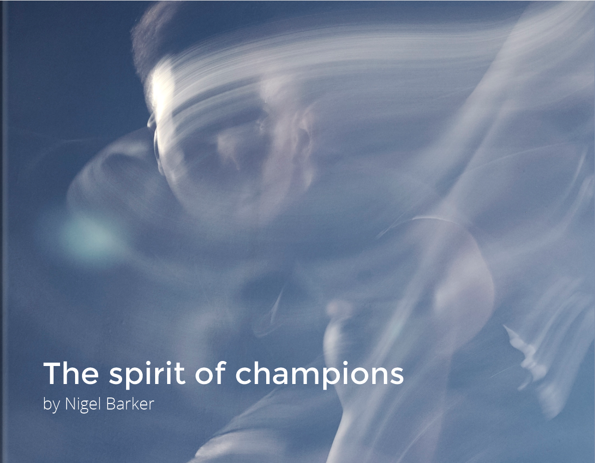 Nigel's cover for The Spirit of Champions Collection