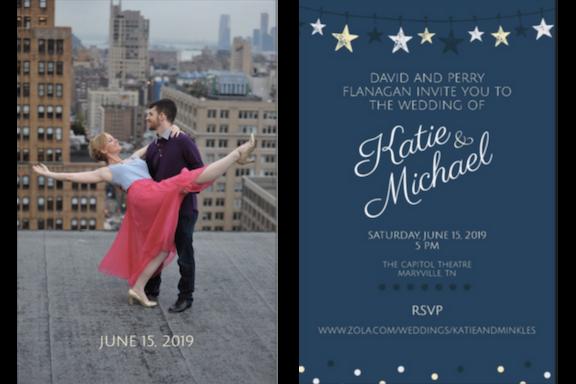 Katie and Michael's Wedding Invite