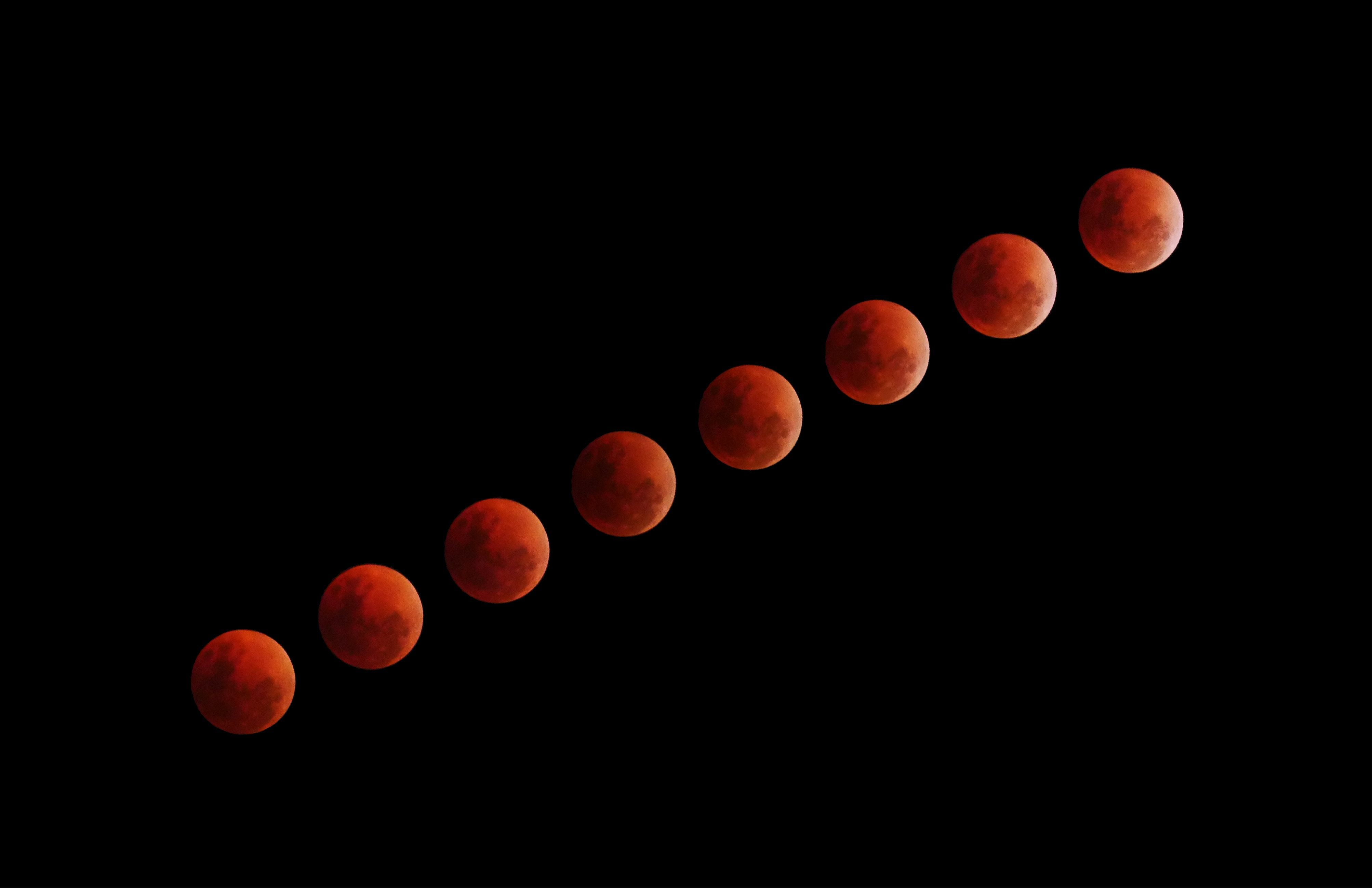 Try using a long lens when capturing a lunar eclipse