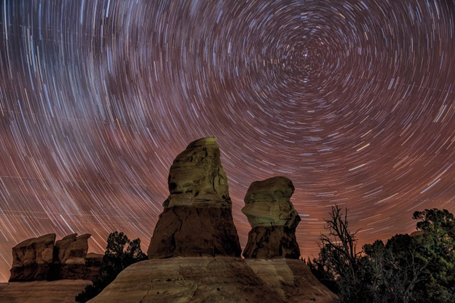 Devils Garden Star Trails