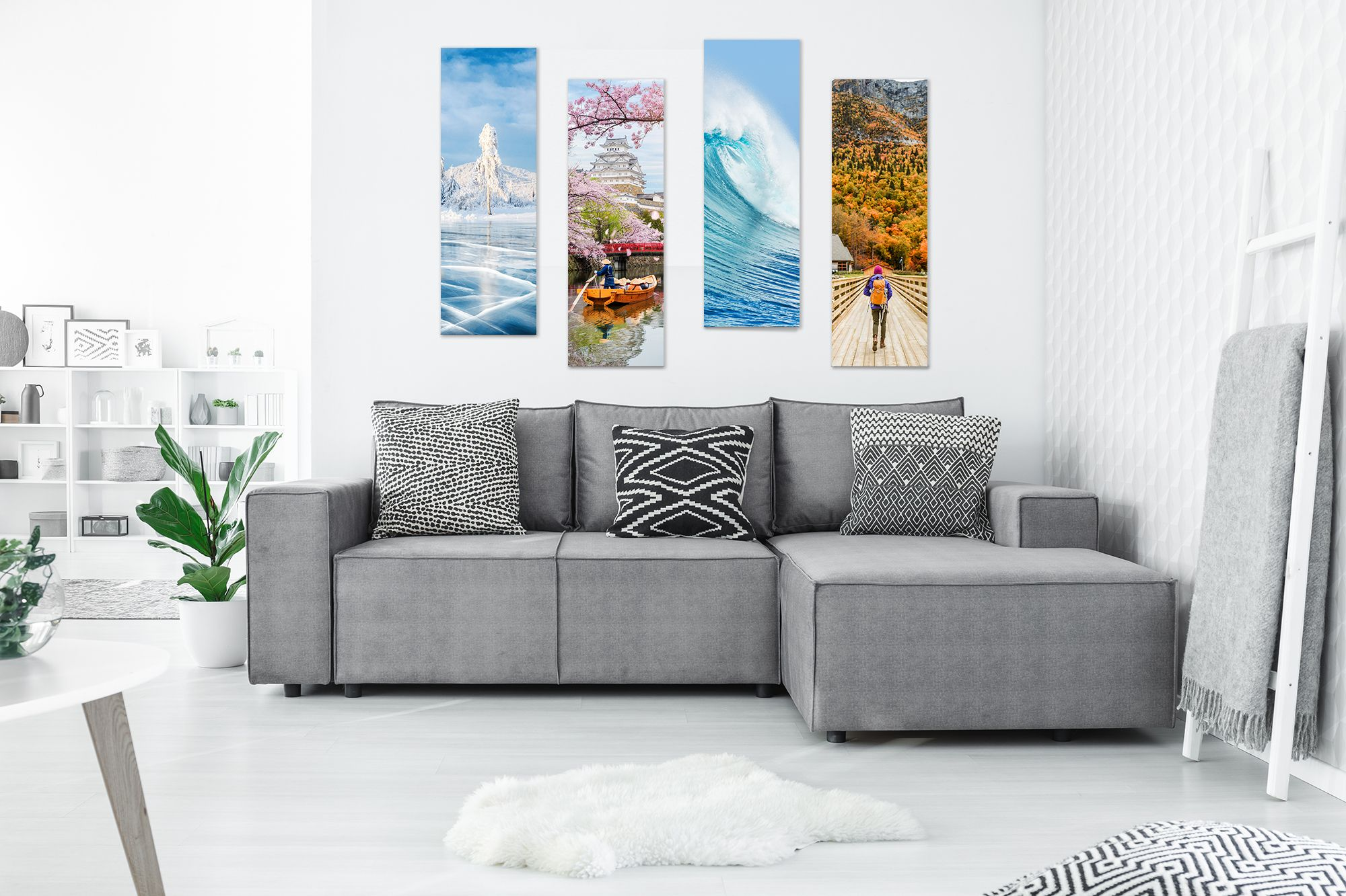 Print seasons as a creative way to display photos on your wall