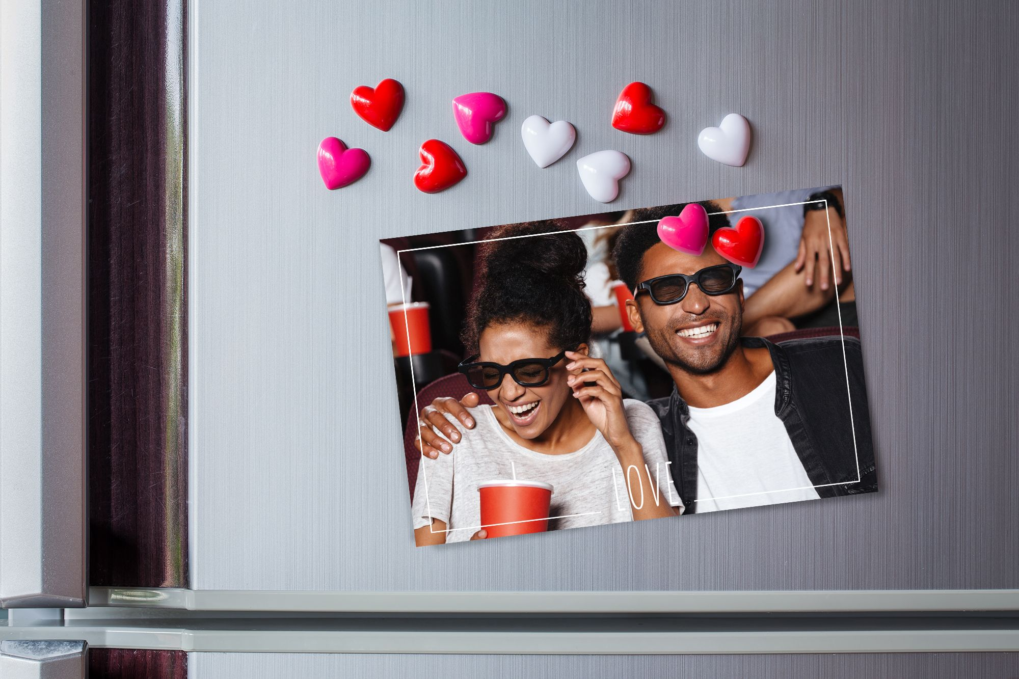 The classic photo card makes a romantic gift for any Valentine's Day