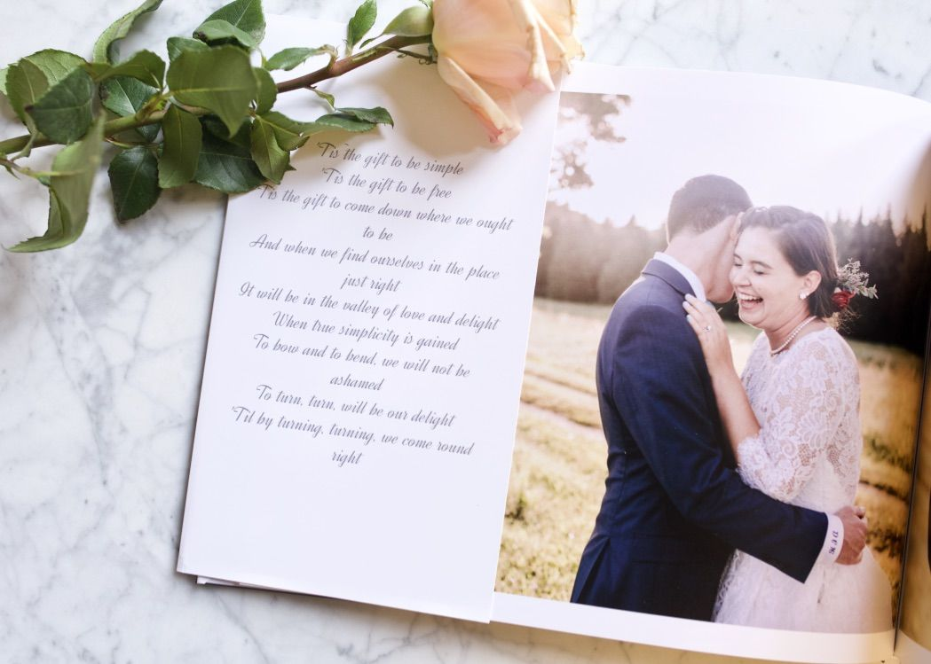 Add lyrics from a love song to the pages of your photo book as a romantic gift idea