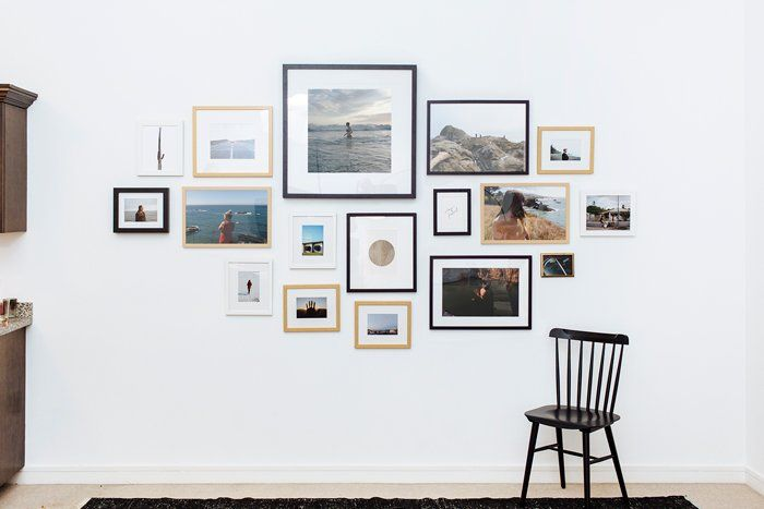Measurements are critical when making a gallery wall
