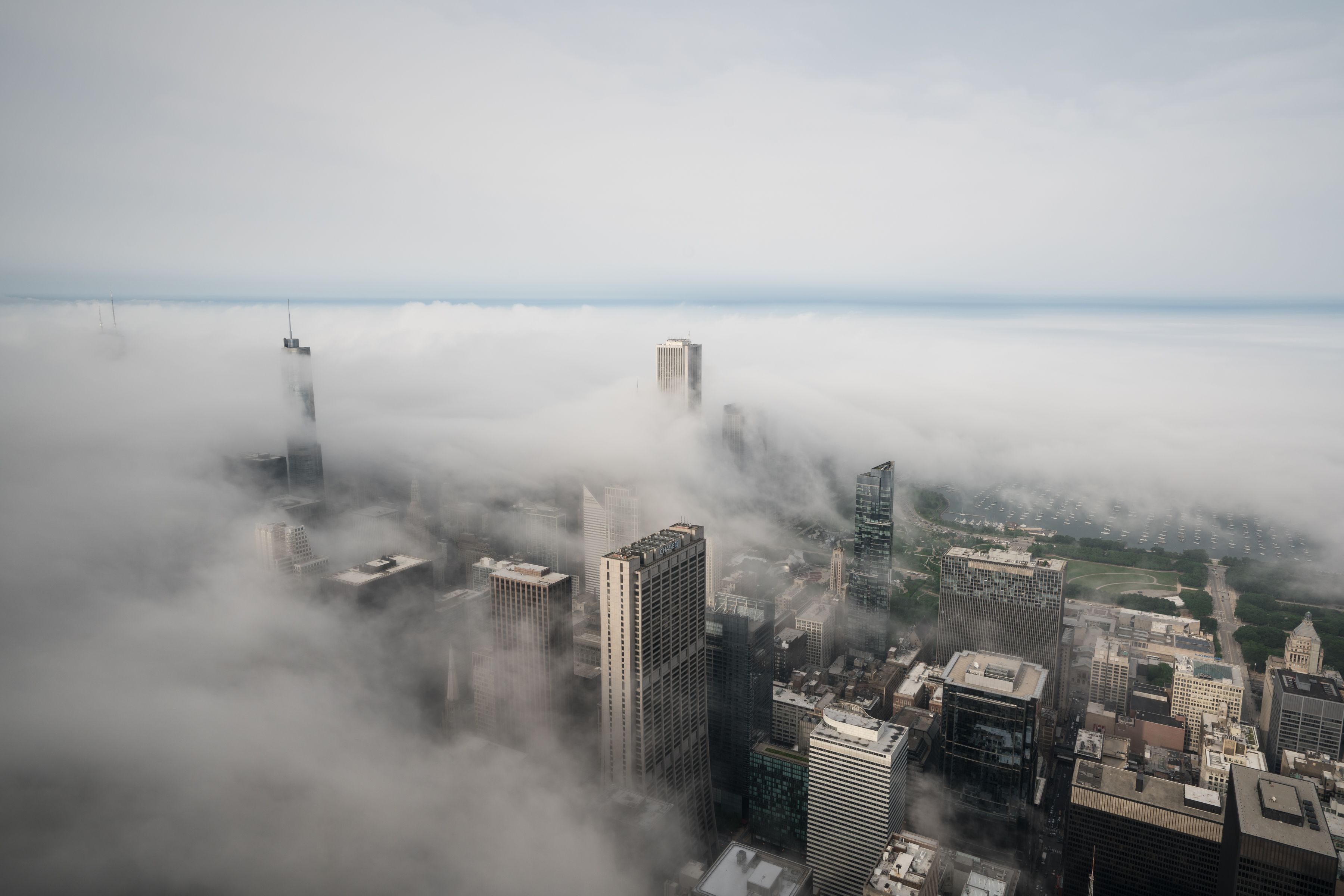 Tatyana Perreault captures the fog grazing the Chicago skyscrapers