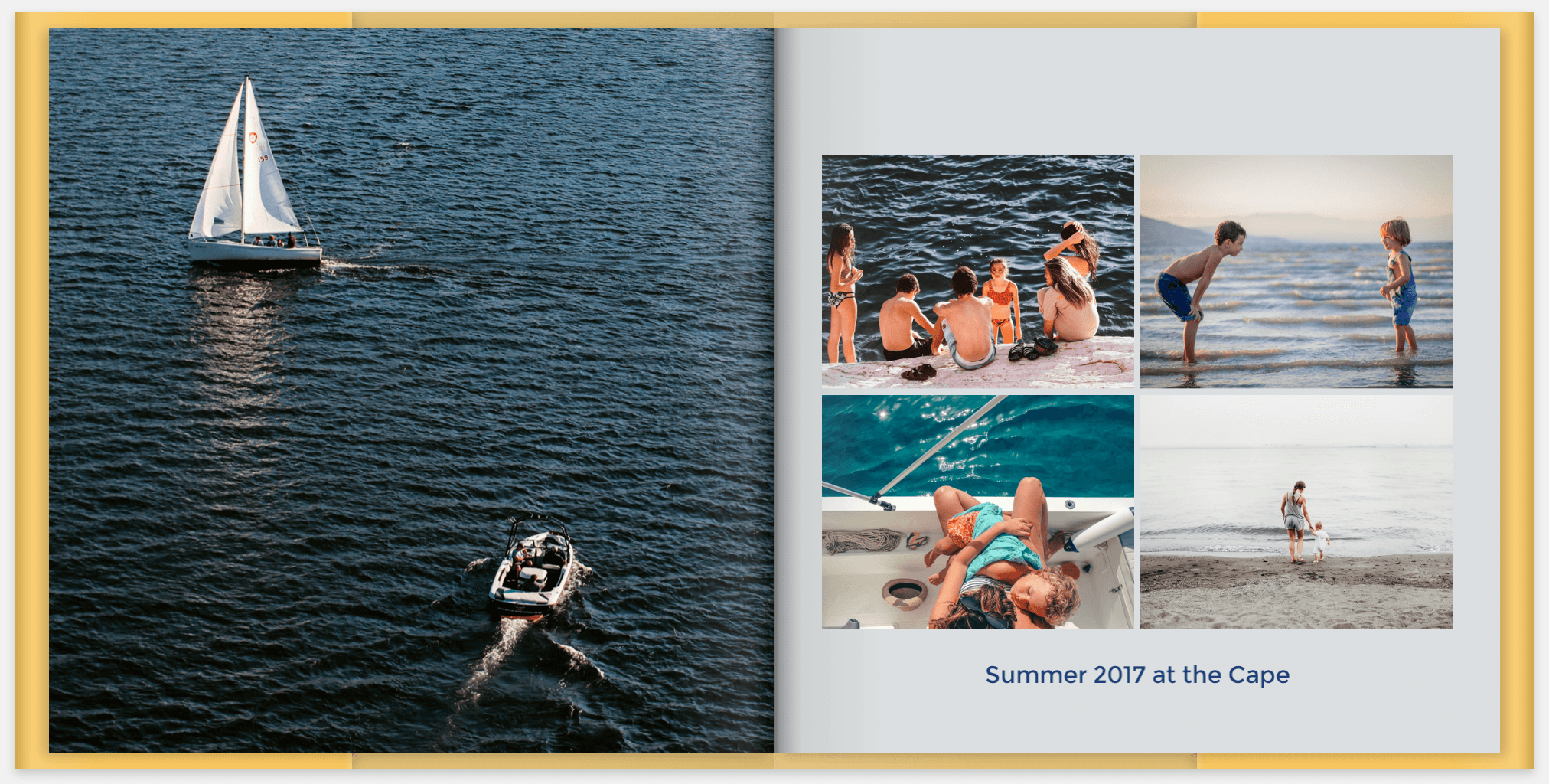 Chronicle past family trips by making a travel photo book for your mom