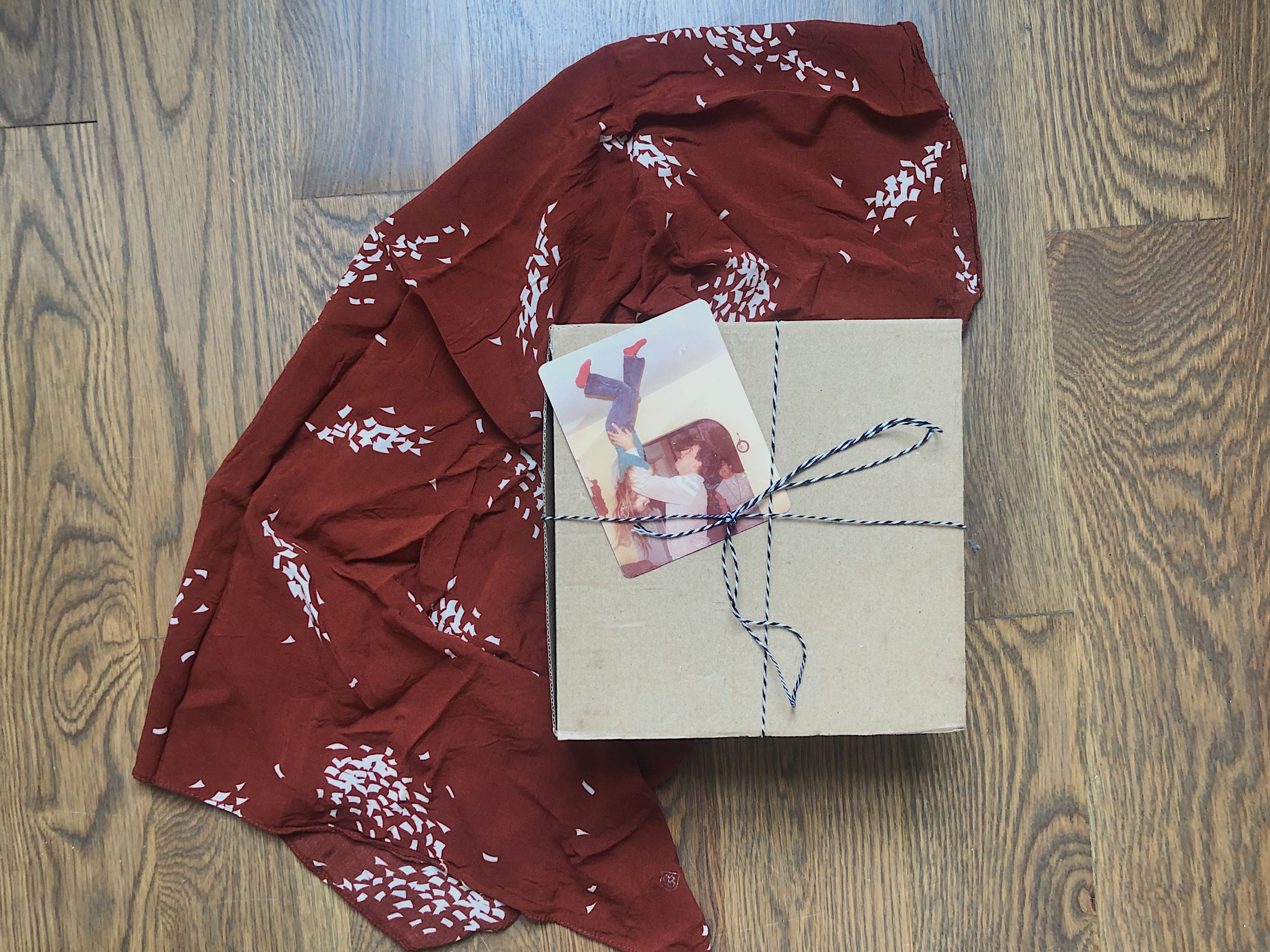 Make a lasting impression with this gift wrapping idea using photo prints