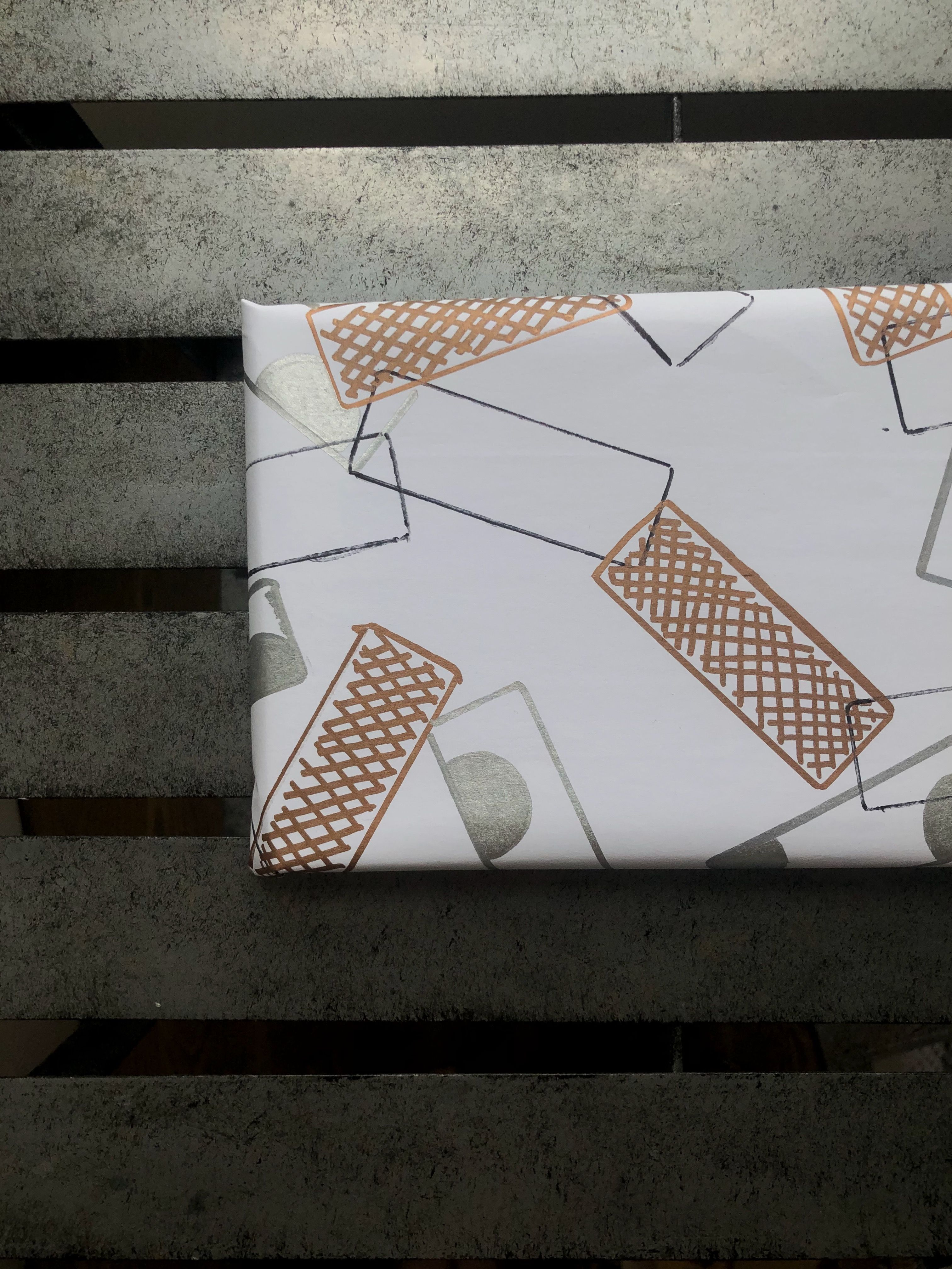 Use custom illustrations to make your own wrapping paper