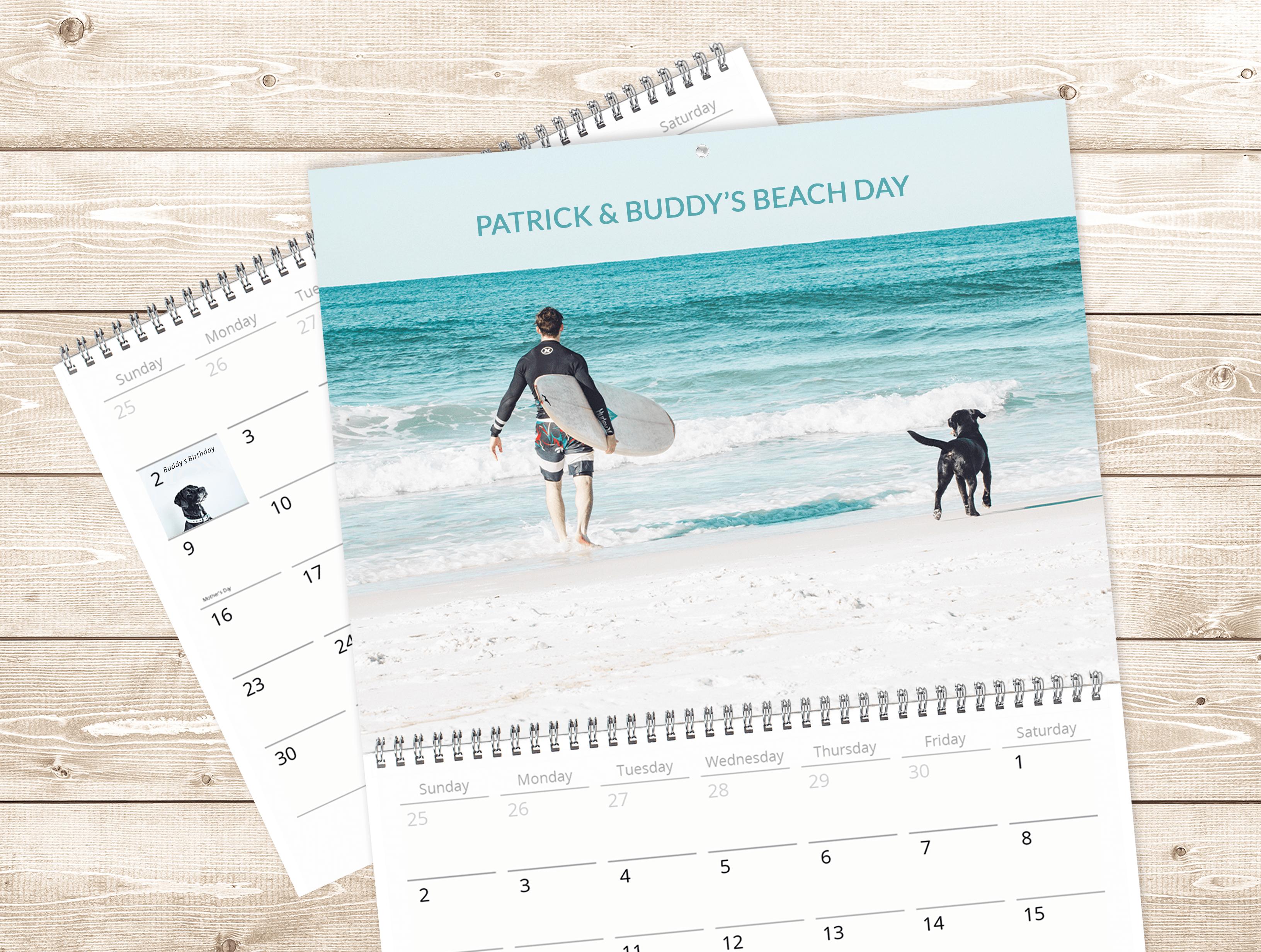 Use Mimeo Photos builder to create a custom pet calendar
