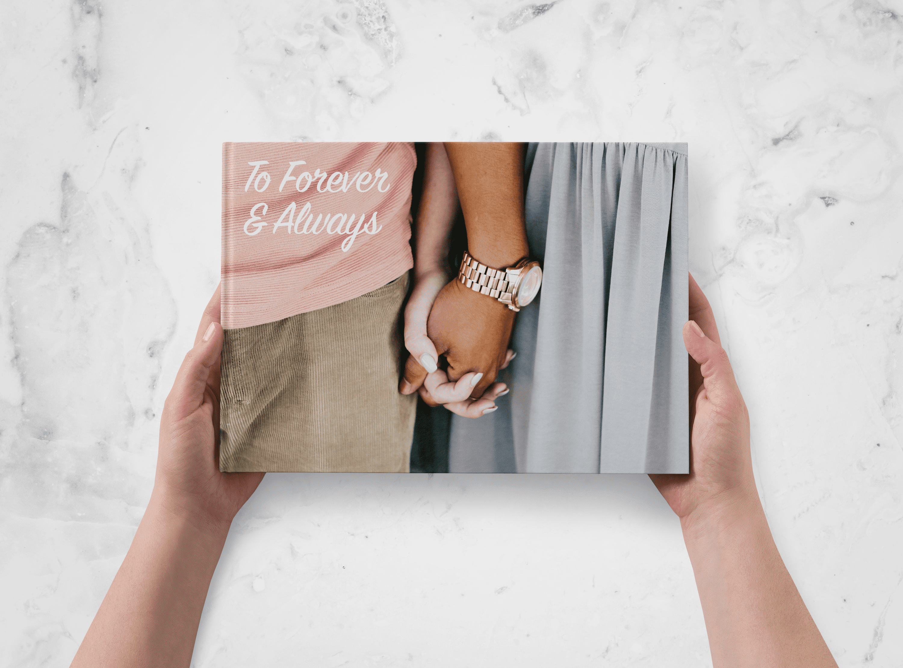 Write a romantic sentiment in your engagement and wedding photo books