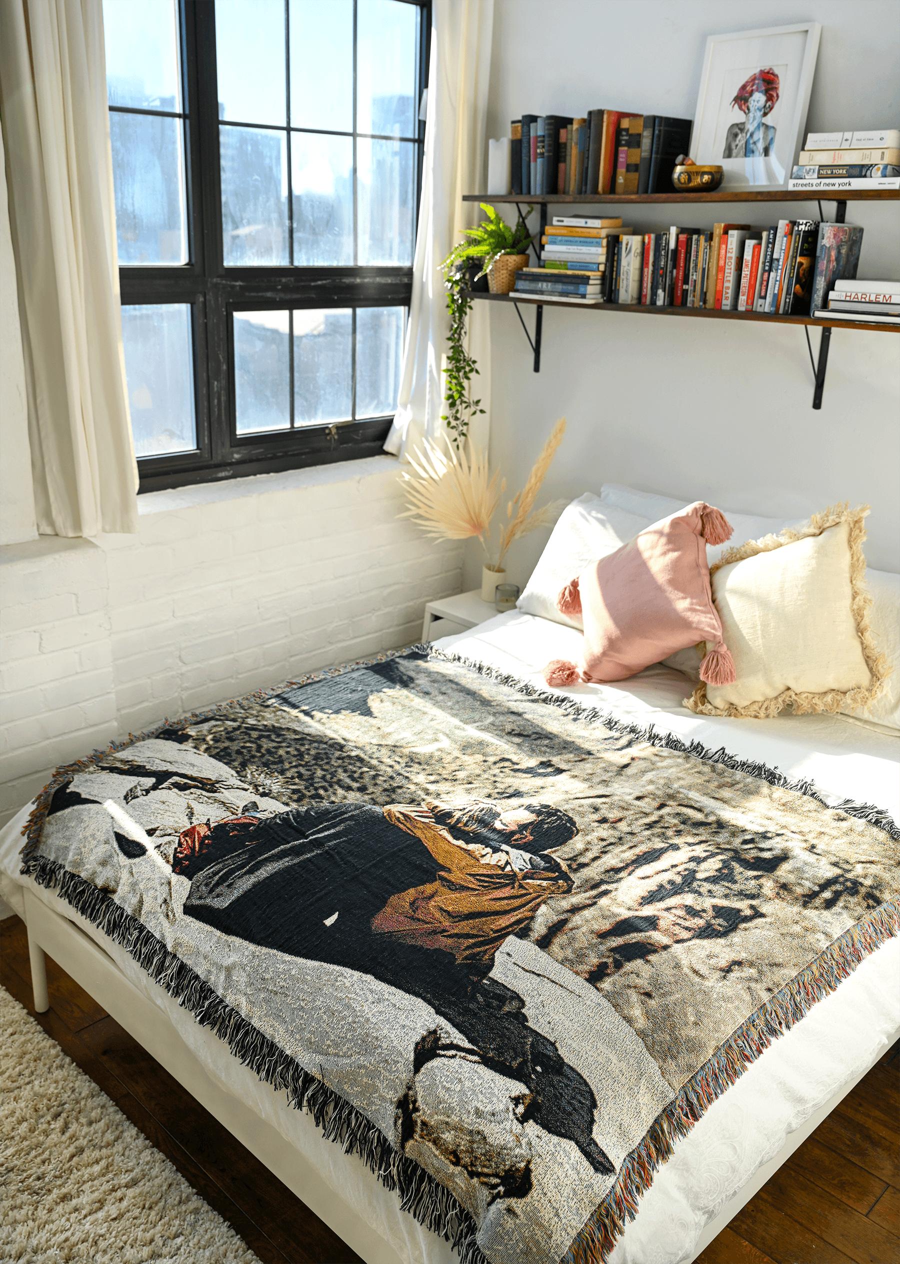 Make a custom photo blanket for Valentine's Day