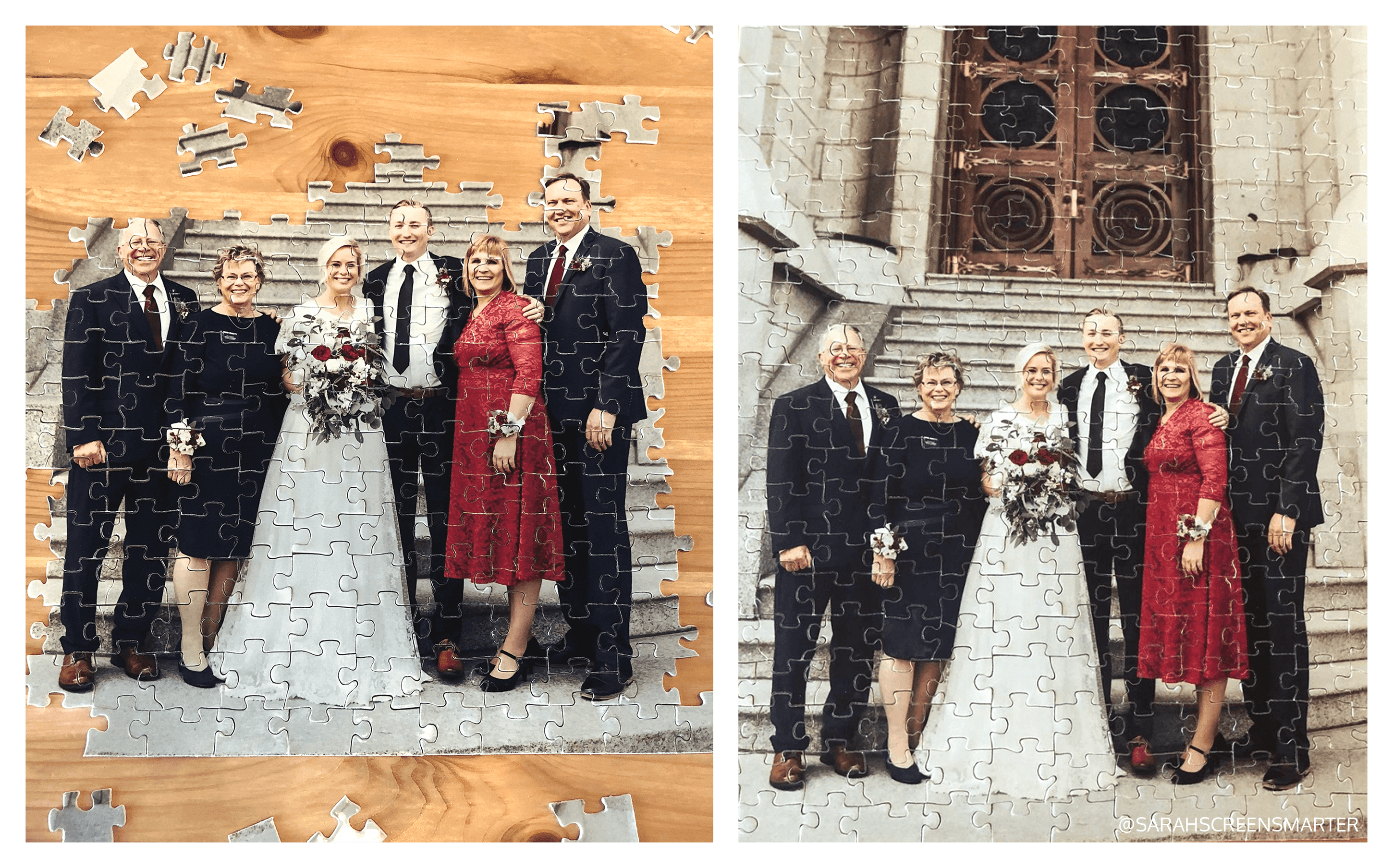 Anniversary or Wedding Photo Puzzles
