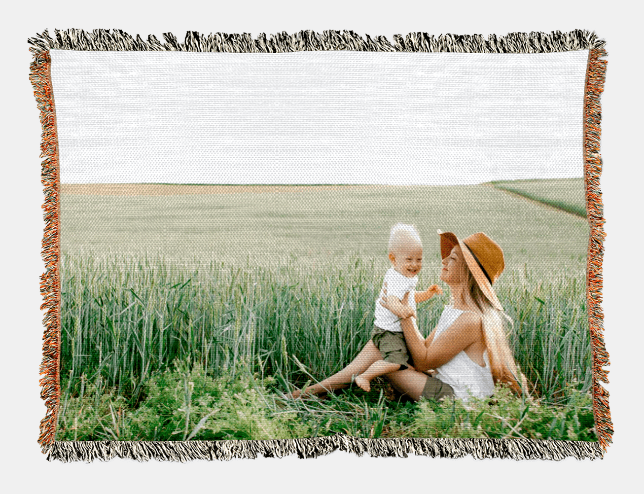 Gift a custom photo blanket for Mother's Day this year