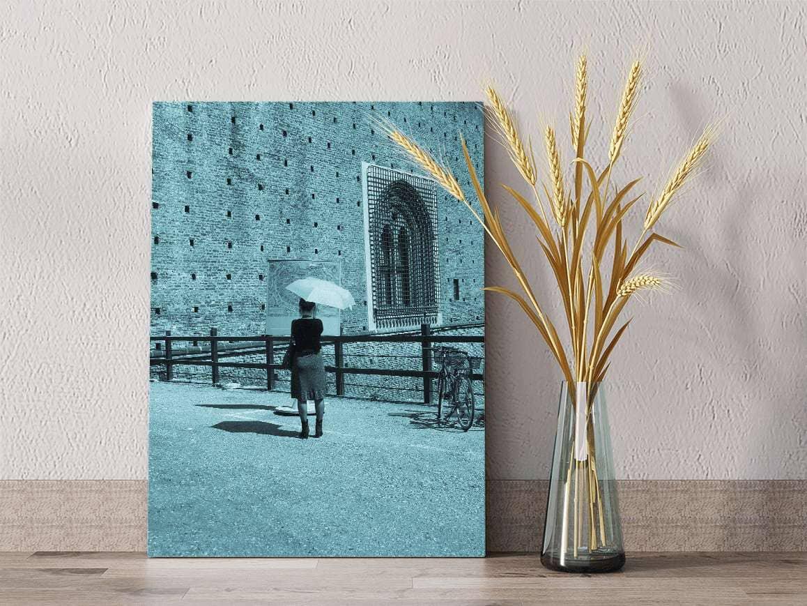 Use cyanotype photo edits for unique DIY home decor