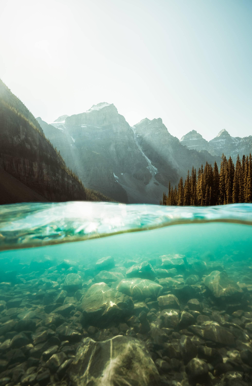 Moraine Lake Shot Underwater by Jordan McGarth