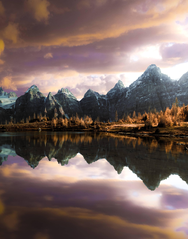 Purple Clouds Over a Mountainscape by Jordan McGrath