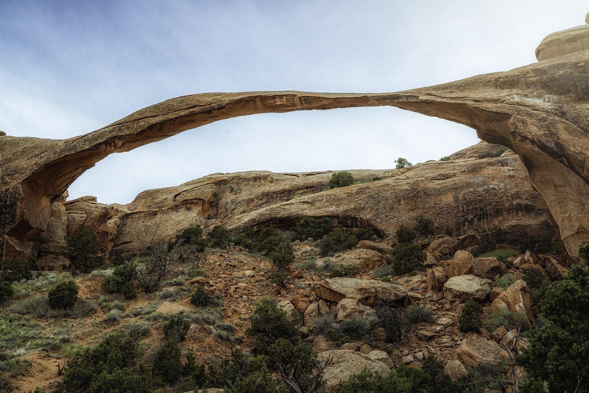 Full rock arch in the desert
