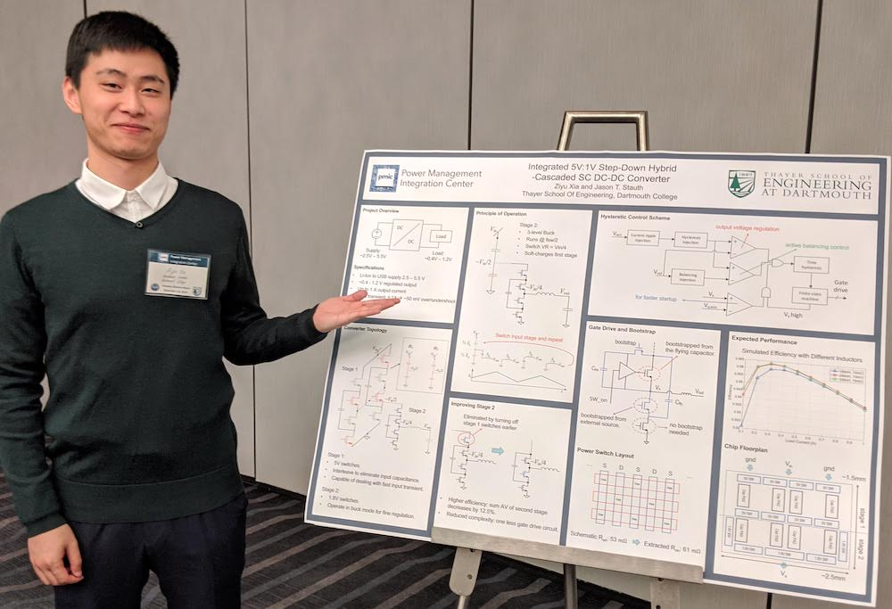 PMIC member presents a poster at the IAB meeting
