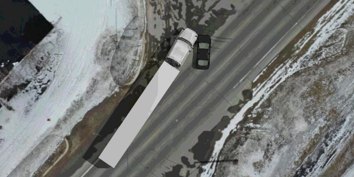 Closed Head Injury Assessment During a Tractor-Trailer Sideswipe Collision
