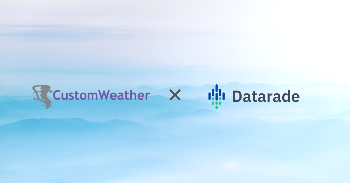 CustomWeather Joins Datarade to Bring Multilingual Weather Data for 85,000 Locations to Companies Worldwide