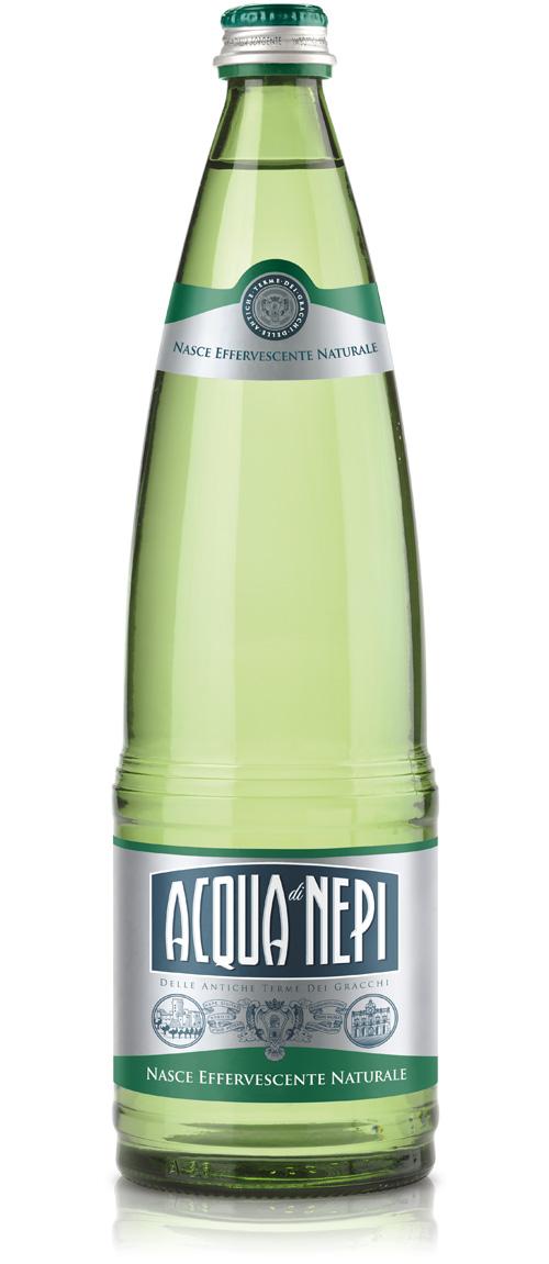 Acqua di Nepi, bottiglia in vetro
