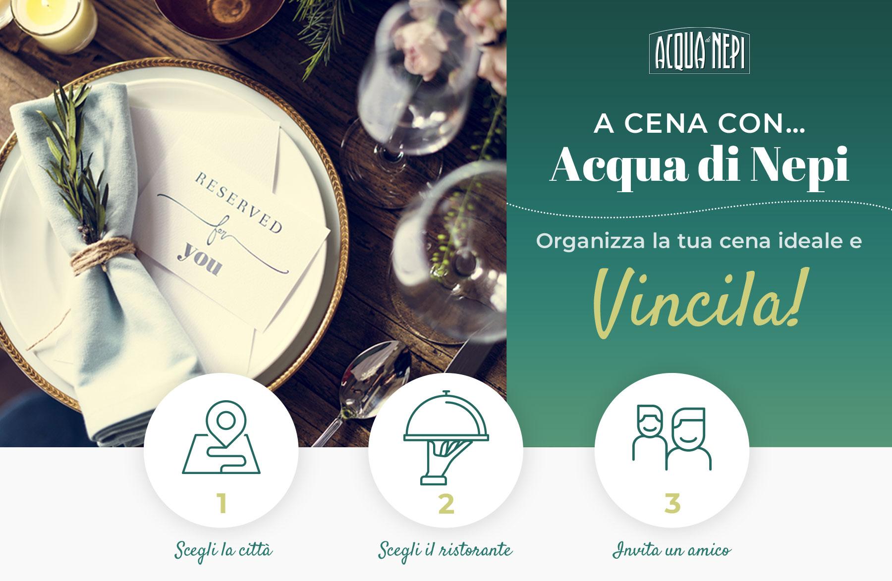 Cartolina concorso A cena con Acqua di Nepi 2019